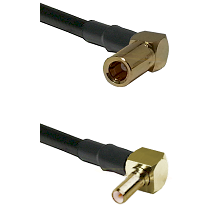 SSLB Right Angle Female on RG188 to SSLB Right Angle Male Cable Assembly