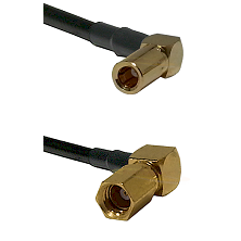 SSLB Right Angle Female on RG188 to SSMC Right Angle Female Cable Assembly