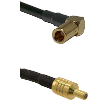 SSLB Right Angle Female on RG188 to SSLB Male Cable Assembly