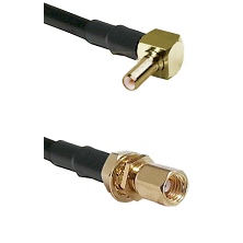 SSLB Right Angle Male on Belden 83242 RG142 to SSMC Female Bulkhead Cable Assembly