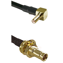 SSLB Right Angle Male on LMR100 to 10/23 Female Bulkhead Cable Assembly