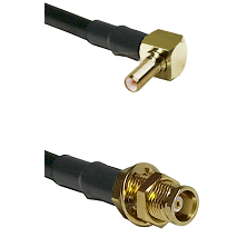 SSLB Right Angle Male on LMR100/U to MCX Female Bulkhead Cable Assembly