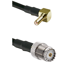 SSLB Right Angle Male on LMR100 to Mini-UHF Female Cable Assembly