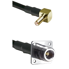 SSLB Right Angle Male on LMR100 to N 4 Hole Female Cable Assembly