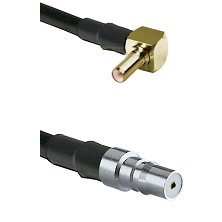 SSLB Right Angle Male on LMR100 to QMA Female Cable Assembly