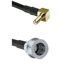 SSLB Right Angle Male on LMR100 to QN Male Cable Assembly