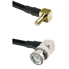 SSLB Right Angle Male on LMR100 to BNC Right Angle Male Cable Assembly
