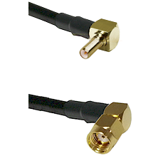 SSLB Right Angle Male on LMR195 to SMA Reverse Polarity Right Angle Male Cable Assembly