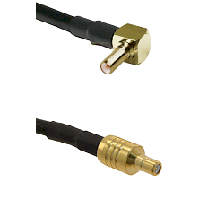 SSLB Right Angle Male on LMR195 to SSMB Male Cable Assembly