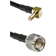 SSLB Right Angle Male on RG142 to Mini-UHF Male Cable Assembly