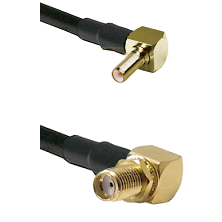 SSLB Right Angle Male on RG188 to SMA Reverse Thread Right Angle Female Bulkhead Coaxial Cable Assem