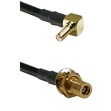 SSLB Right Angle Male on RG223 to SSMB Female Bulkhead Cable Assembly