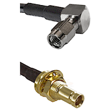 SSMA Right Angle Male on LMR100 to 10/23 Female Bulkhead Cable Assembly