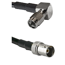 SSMA Right Angle Male on LMR100 to BNC Female Cable Assembly