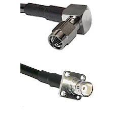 SSMA Right Angle Male on LMR100 to BNC 4 Hole Female Cable Assembly