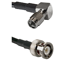 SSMA Right Angle Male on LMR100 to BNC Male Cable Assembly