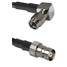 SSMA Right Angle Male on LMR100 to C Female Cable Assembly