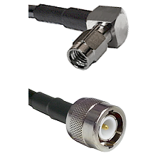 SSMA Right Angle Male on LMR100 to C Male Cable Assembly
