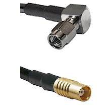 SSMA Right Angle Male on LMR100 to MCX Female Cable Assembly