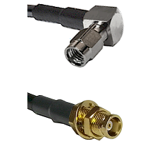 SSMA Right Angle Male on LMR100 to MCX Female Bulkhead Cable Assembly