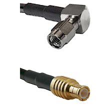 SSMA Right Angle Male on LMR100 to MCX Male Cable Assembly