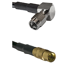 SSMA Right Angle Male on LMR100 to MMCX Female Cable Assembly