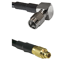 SSMA Right Angle Male on LMR100 to MMCX Male Cable Assembly
