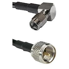 SSMA Right Angle Male on LMR100/U to Mini-UHF Male Cable Assembly