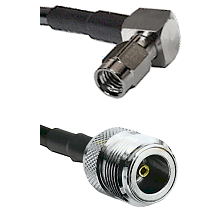 SSMA Right Angle Male on LMR100/U to N Female Cable Assembly