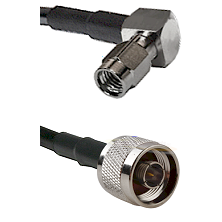 SSMA Right Angle Male on LMR100 to N Male Cable Assembly