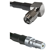 SSMA Right Angle Male on LMR100 to QMA Female Cable Assembly