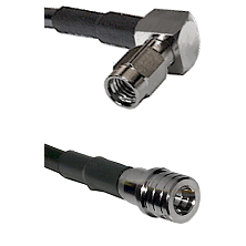 SSMA Right Angle Male on RG188 to QMA Male Cable Assembly