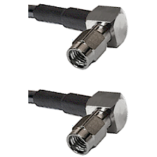 SSMA Right Angle Male on RG188 to SSMA Right Angle Male Cable Assembly
