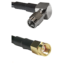 SSMA Right Angle Male on RG188 to SSMA Male Cable Assembly