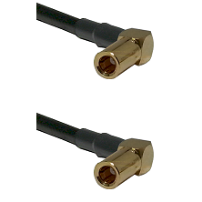 SSMB Right Angle Female on Belden 83242 RG142 to SSMB Right Angle Female Cable Assembly