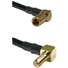 SSMB Right Angle Female on Belden 83242 RG142 to SSMB Right Angle Male Cable Assembly