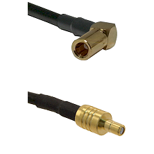 SSMB Right Angle Female on Belden 83242 RG142 to SSMB Male Cable Assembly