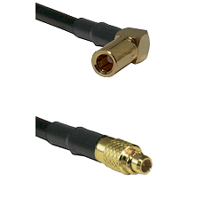 SSMB Right Angle Female on LMR100 to MMCX Male Cable Assembly