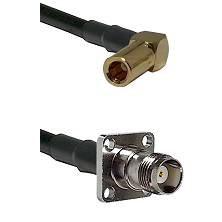 SSMB Right Angle Female on RG142 to TNC 4 Hole Female Cable Assembly