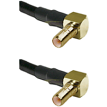 SSMB Right Angle Male on Belden 83242 RG142 to SSMB Right Angle Male Cable Assembly