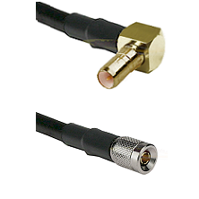 SSMB Right Angle Male on LMR100 to 10/23 Male Cable Assembly