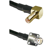 SSMB Right Angle Male on LMR100 to BNC 4 Hole Female Cable Assembly
