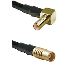 SSMB Right Angle Male on LMR100 to MCX Female Cable Assembly