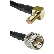 SSMB Right Angle Male on LMR100 to Mini-UHF Male Cable Assembly
