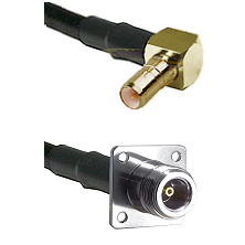 SSMB Right Angle Male on LMR100 to N 4 Hole Female Cable Assembly