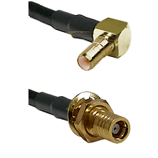 SSMB Right Angle Male on RG174 to SMB Female Bulkhead Cable Assembly