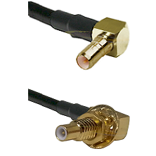 SSMB Right Angle Male on RG188 to SLB Male Bulkhead Cable Assembly
