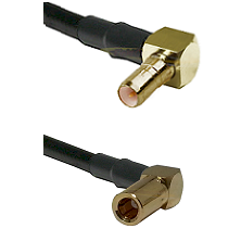 SSMB Right Angle Male on RG316 to SSLB Right Angle Female Cable Assembly