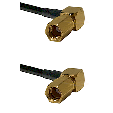 SSMC Right Angle Female on Belden 83242 RG142 to SSMC Right Angle Female Cable Assembly
