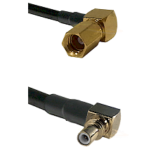 SSMC Right Angle Female on Belden 83242 RG142 to SSMC Right Angle Male Cable Assembly